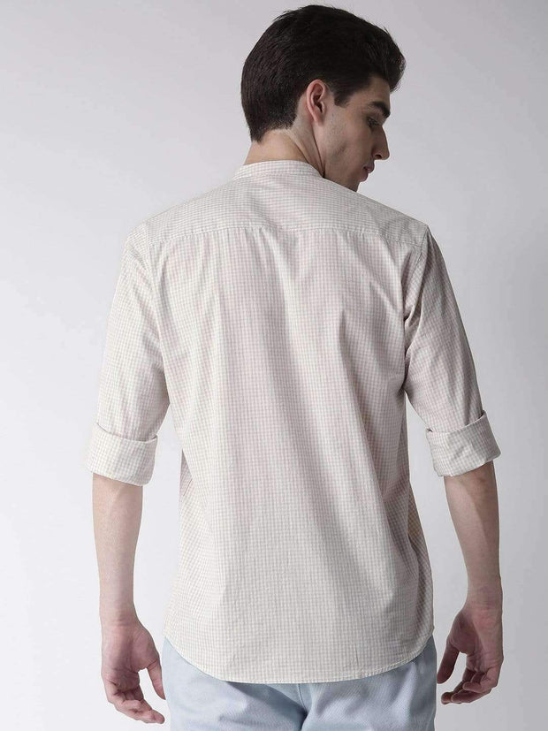 Richlook Cream & Sand Slim Fit Casual Shirt