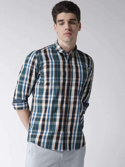 Cream & Tapesty Blue Casual Shirt