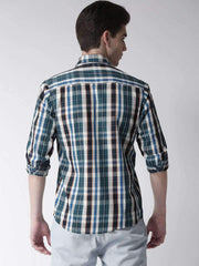 Cream & Tapesty Blue Casual Shirt back view