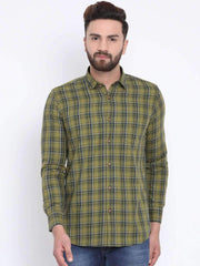 Richlook Green Casual Slim Fit Shirt