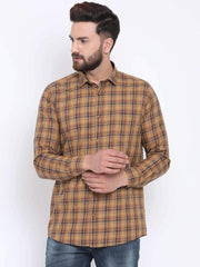 Mustard Casual Slim Fit Shirt