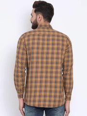 Mustard Casual Slim Fit Shirt back view