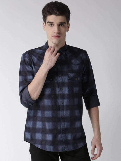 Navy & Sky Casual Shirt