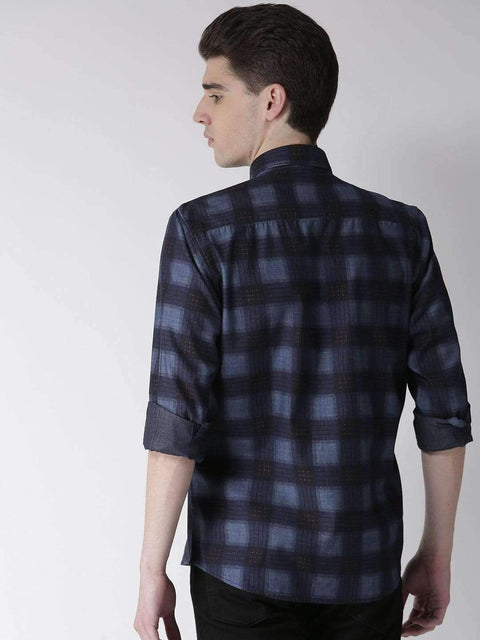 Navy & Sky Casual Shirt back view