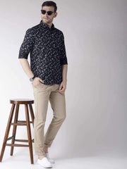 Navy Slim Fit Casual Shirt for men