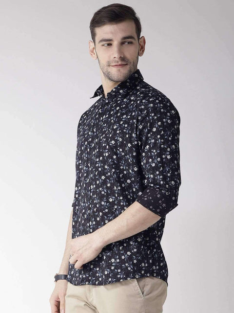 Navy Slim Fit Casual Shirt side view