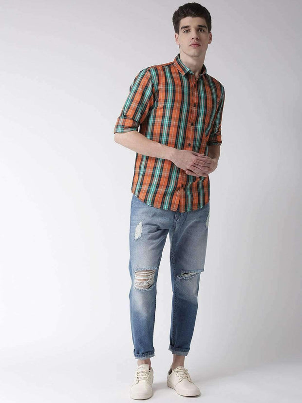 Orange & Tapesty Casual Shirt full view