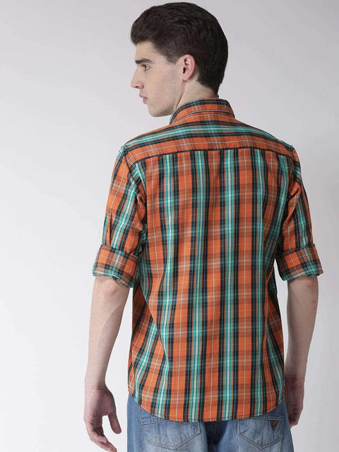 Orange & Tapesty Casual Shirt back view