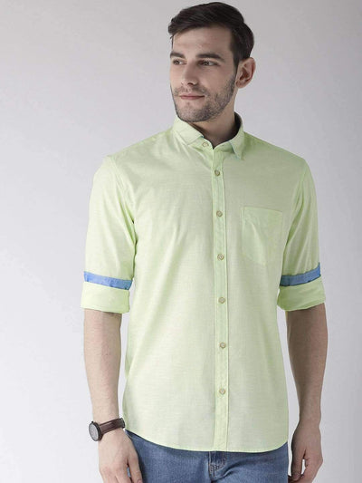 Peach Slim Fit Casual Shirt