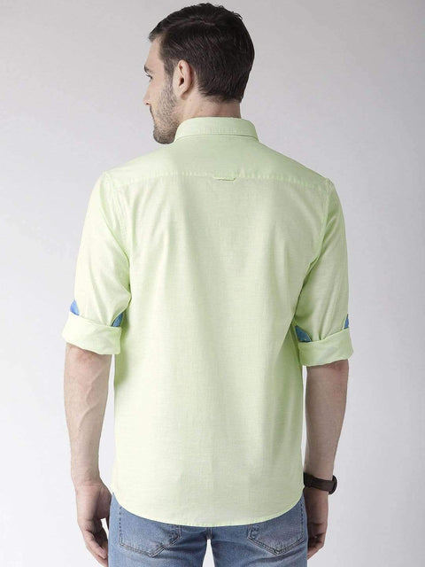 Peach Slim Fit Casual Shirt back view