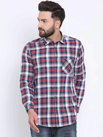 Red & Blue Casual Shirt