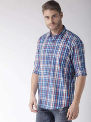 Richlook Casual Shirt Richlook Red & Blue Slim Fit Casual Shirt