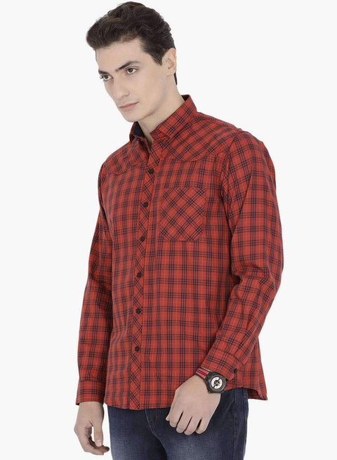 Richlook Casual Shirt Richlook Red Casual Shirt