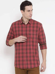 Rust Blue Casual Shirt