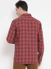 Rust Blue Casual Shirt back view