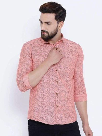 Richlook Casual Shirt Richlook Rust Casual Slim Fit Shirt