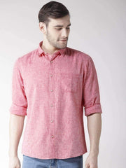 Rust Slim Fit Casual Shirt