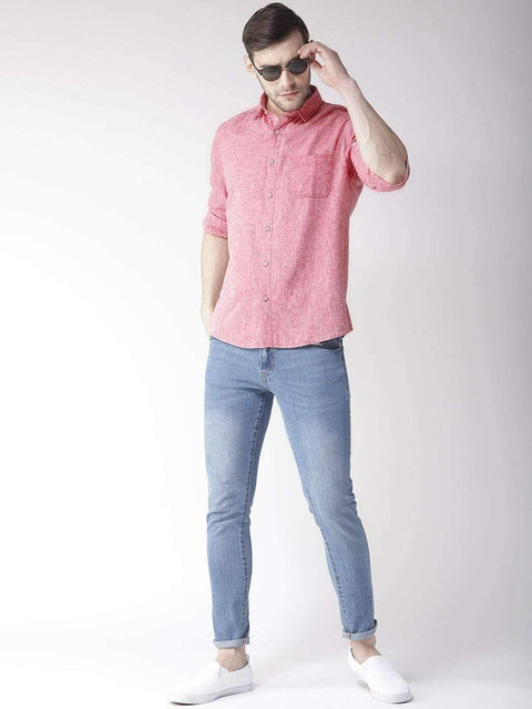 Rust Slim Fit Casual Shirt for men