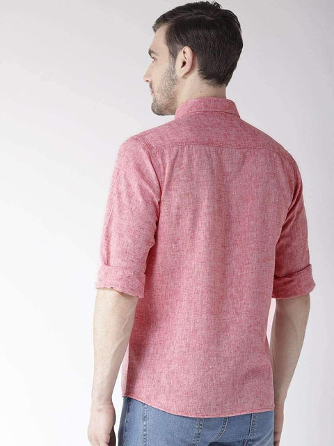 Rust Slim Fit Casual Shirt back view