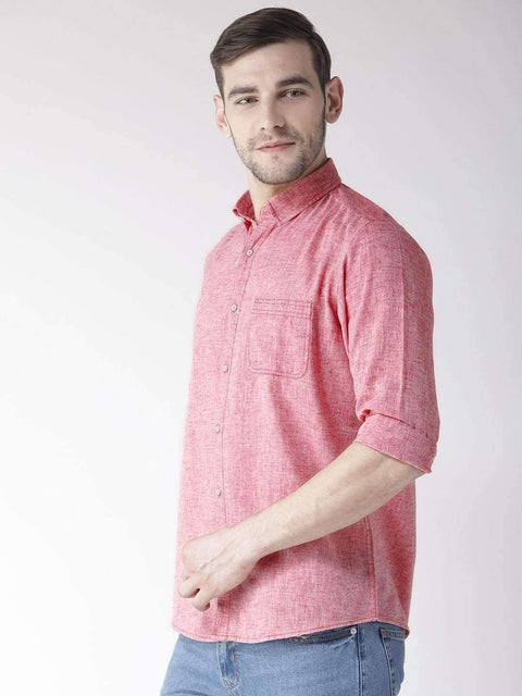 Rust Slim Fit Casual Shirt side view