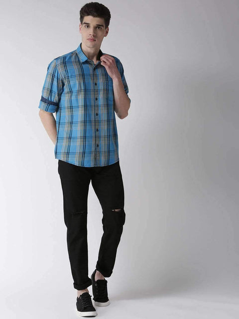 Richlook Casual Shirt Richlook Tapesty Blue Slim Fit Casual Shirt