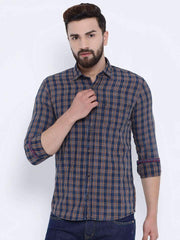 Richlook Casual Shirt Richlook Termic & Black Casual Slim Fit Shirt