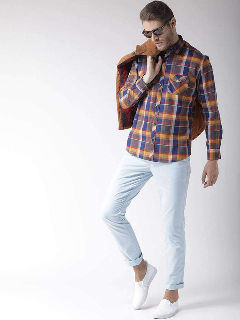 Termic & Blue Slim Fit Casual Shirt full view