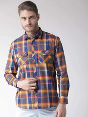 Termic & Blue Slim Fit Casual Shirt