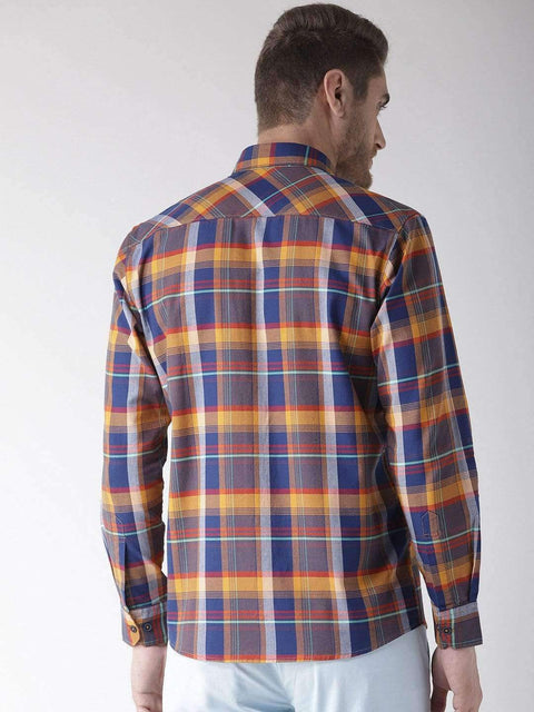 Termic & Blue Slim Fit Casual Shirt back view