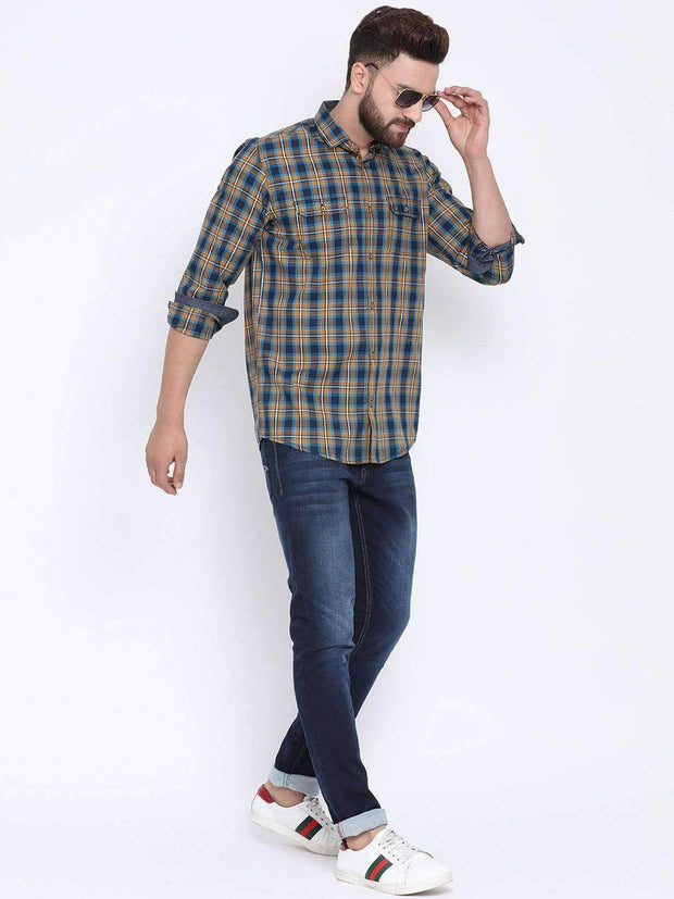 Richlook Casual Shirt Richlook Termic & Tapesty Blue Casual Slim Fit Shirt