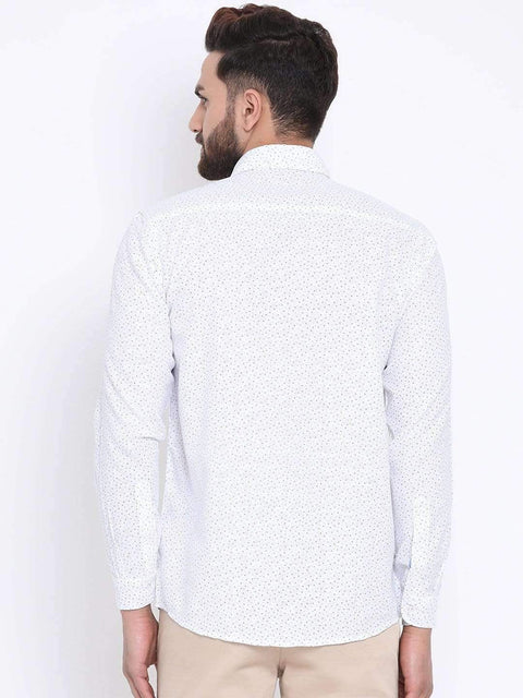 Richlook Casual Shirt Richlook White & Sky Casual Slim Fit Shirt