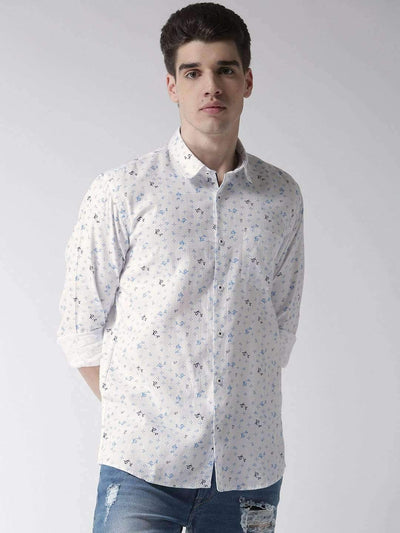 White & Sky Slim Fit Casual Shirt