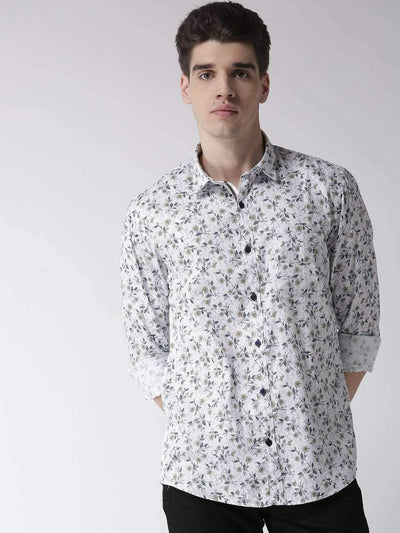 Richlook Casual Shirt Richlook White Slim Fit Casual Shirt