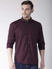 Richlook Casual Shirt Richlook Wine Slim Fit Casual Shirt