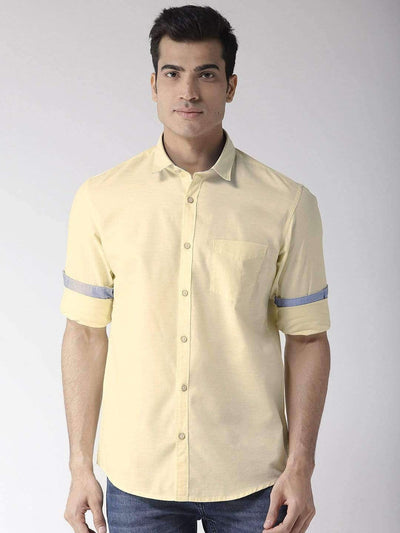Yellow Slim Fit Casual Shirt