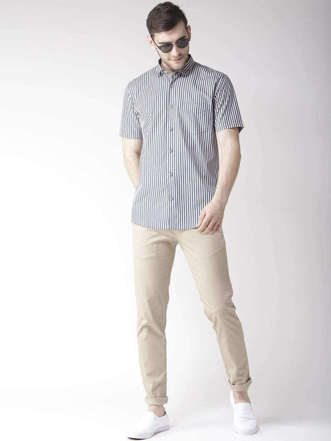 Richlook Casual Shirt Richloook Blue & Yellow Slim Fit Casual Shirt