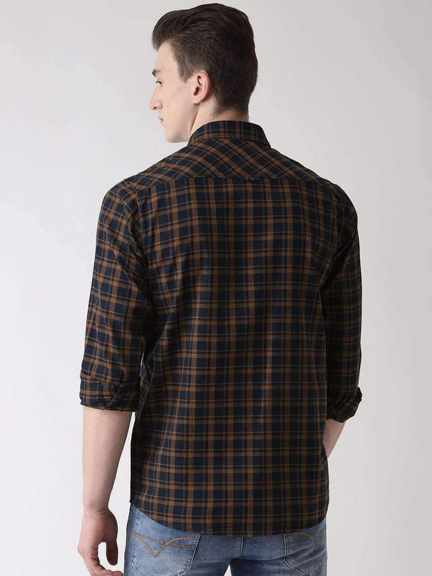 Turmeric & Blue Casual Shirt back view