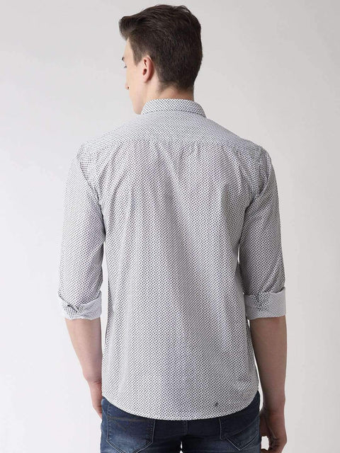 White & Black Casual Shirt Back view