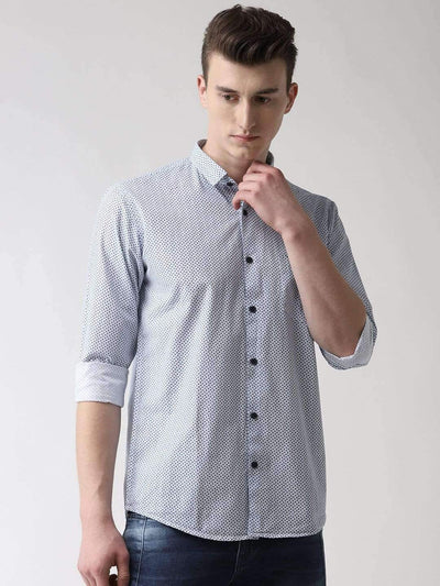 White & Blue Casual Shirt