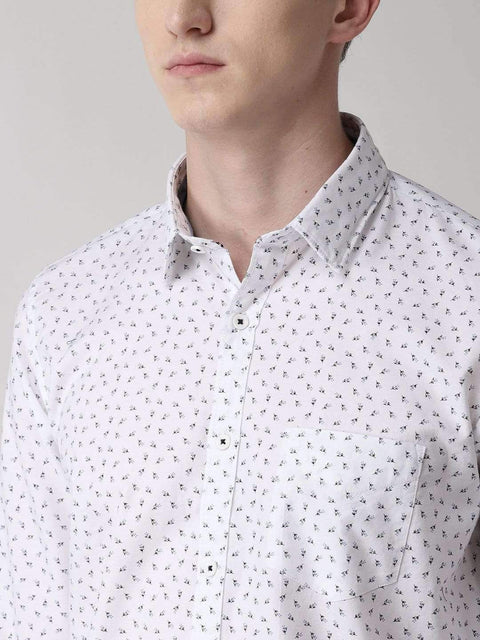 White Casual Shirt close view