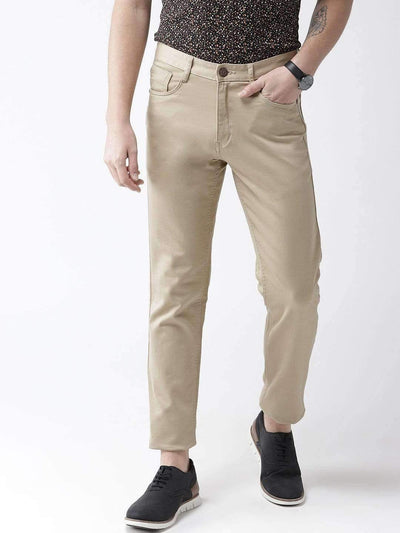 Beige Casual Slim Fit Trouser