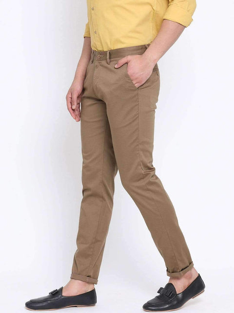 Richlook Beige Casual Slim Fit Trouser