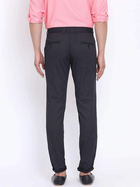 Richlook Black Casual Slim Fit Trouser