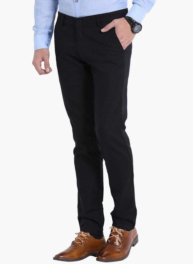 Black Slim Fit Trouser side view
