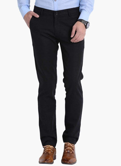 Richlook Black Slim Fit Trouser