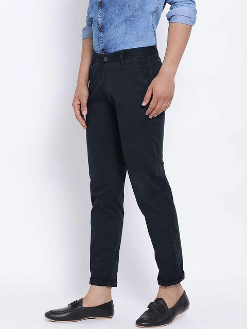 Blue Slim Fit Trouser Side view