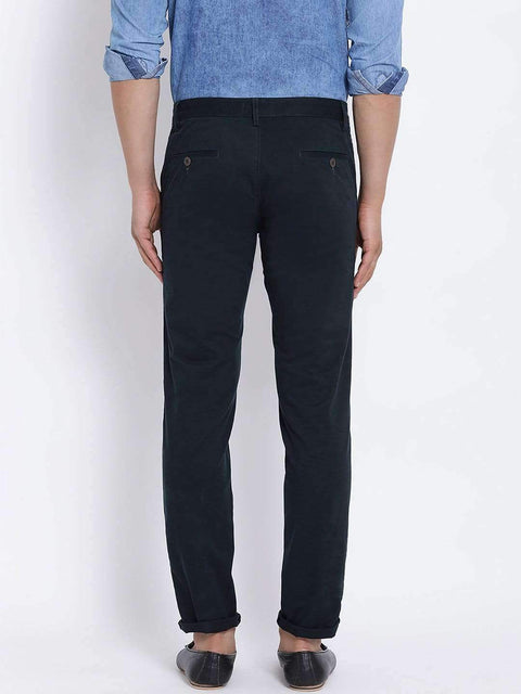 Blue Slim Fit Trouser back view
