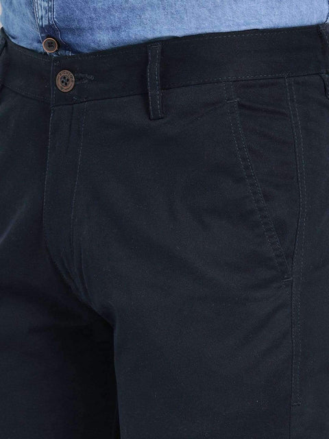 Blue Slim Fit Trouser close view