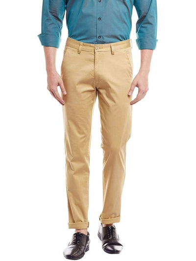 Richlook Casual Camel Slim Fit Trouser