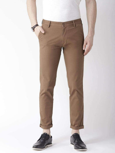 Coffee Casual Slim Fit Trouser